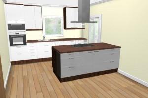 Neue 3D Ansicht Küche