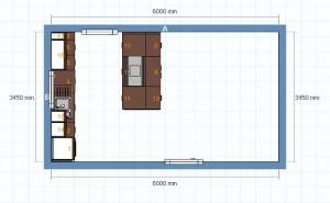 Grundriss neuer Entwurf für die Küche