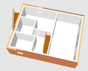 Grafik: Erster Entwurf - 3D Keller