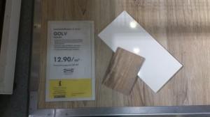 GOLV gekalkt von Ikea mit unseren Mustern